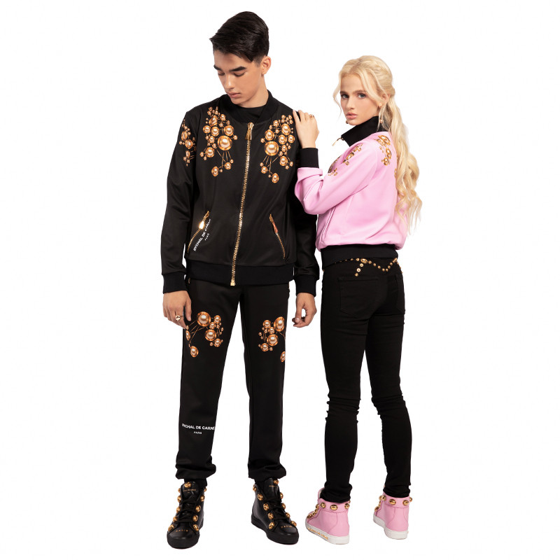 Tracksuit with Bomber Jacket Rivet Up