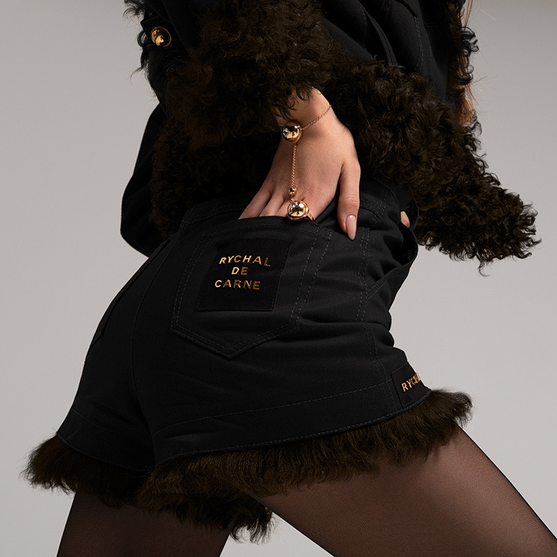 Shorts with Brown Fur Capsule Collection
